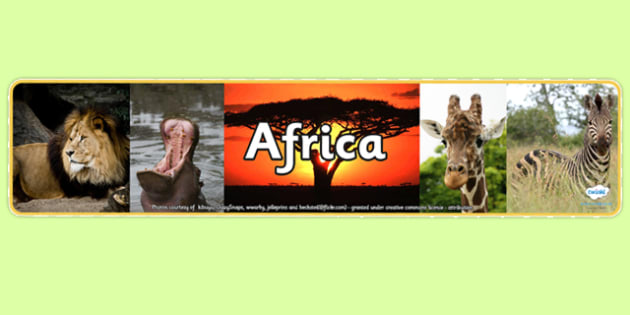 Africa Photo Display Banner - africa, photo display banner, photo banner, display banner, banner,  banner for display, display photo, display, photos, images
