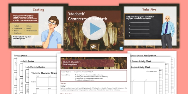 Macbeth Characters Lesson Pack