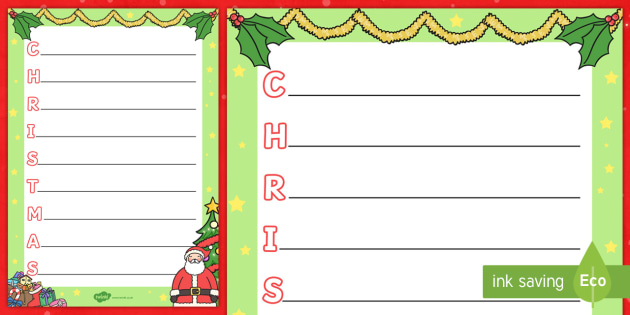Christmas Acrostic Poem - acrostic poem, acrostic, poem, poetry, christmas, xmas, literacy, writing activity