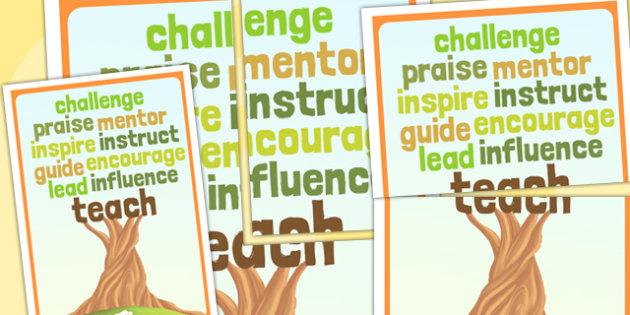 Teaching Qualities Poster - teaching aid, teach, display, posters
