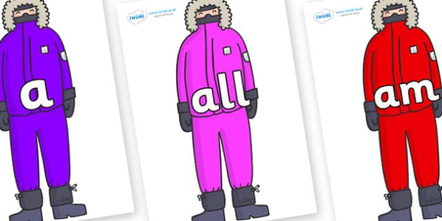 Foundation Stage 2 Keywords on Arctic Explorers - FS2, CLL, keywords, Communication language and literacy,  Display, Key words, high frequency words, foundation stage literacy, DfES Letters and Sounds, Letters and Sounds, spelling