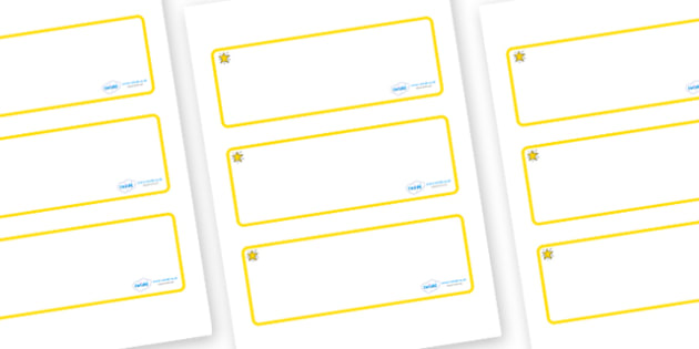 Star Themed Editable Drawer-Peg-Name Labels (Blank) - Themed Classroom Label Templates, Resource Labels, Name Labels, Editable Labels, Drawer Labels, Coat Peg Labels, Peg Label, KS1 Labels, Foundation Labels, Foundation Stage Labels, Teaching Labels