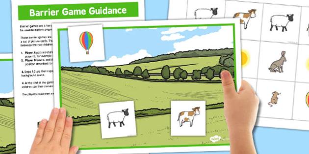 Countryside Barrier Game - countryside, barrier, game, activity