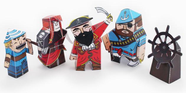 Pirate Paper Model Pack - Pirate, Paper, Model, Pack, Craft, Sack
