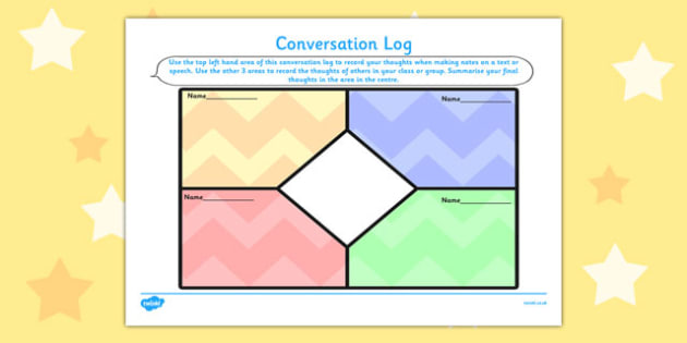 Conversation Log - conversation, log, record, thoughts, box, class