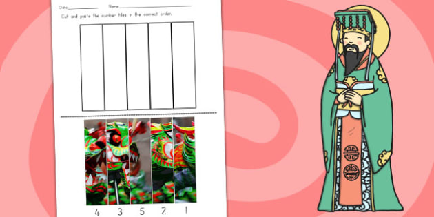 Chinese New Year Photo Number Sequencing Puzzle - australia