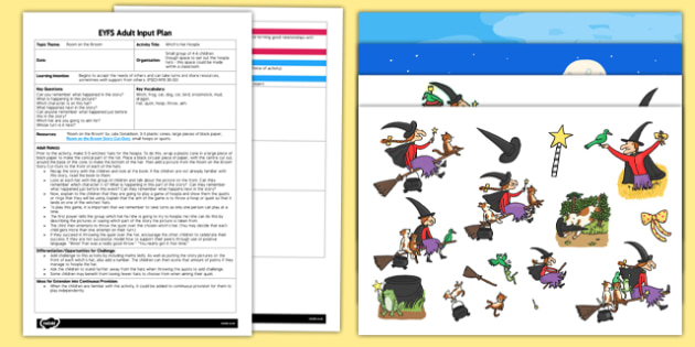 EYFS Witch's Hat Hoopla Adult Input Plan and Resource Pack