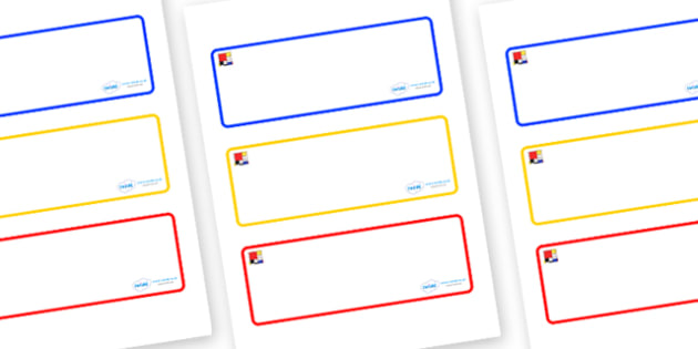 Mondrian Themed Editable Drawer-Peg-Name Labels (Blank) - Themed Classroom Label Templates, Resource Labels, Name Labels, Editable Labels, Drawer Labels, Coat Peg Labels, Peg Label, KS1 Labels, Foundation Labels, Foundation Stage Labels, Teaching Lab