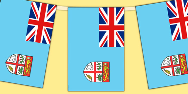 Fiji Flag Display Bunting - countries, geography, flags, fiji