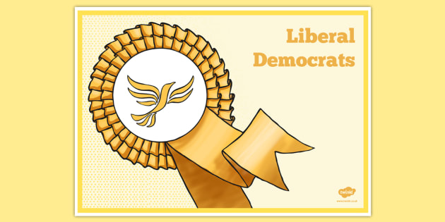 United Kingdom Political Liberal Democrats Party Display Poster - british values, politics, uk
