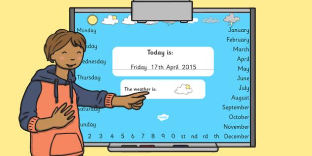 Todays Date Presentation Editable - presentation, date, today