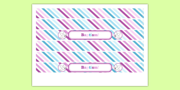 Baptism Cake Ribbon - Baptism, party, decorations, new parents, cake ribbon