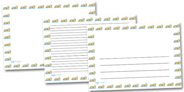 Gosling Landscape Page Borders- Landscape Page Borders - Page border, border, writing template, writing aid, writing frame, a4 border, template, templates, landscape