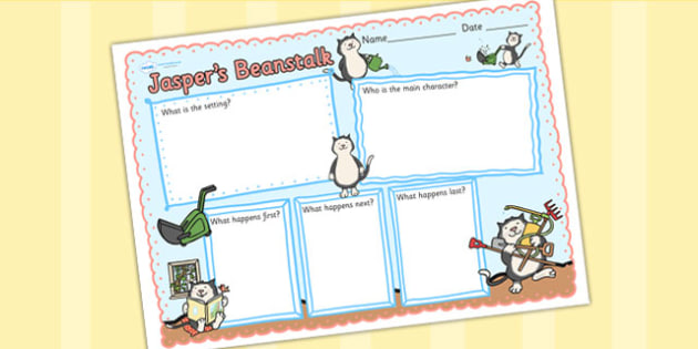 Book Review Writing Frame to Support Teaching on Jasper's Beanstalk - jaspers beanstalk, book review, writing frame, book review writing frame, writing aid, writing template