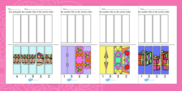 Diwali Number Sequencing Puzzle - puzzle, diwali, sequencing