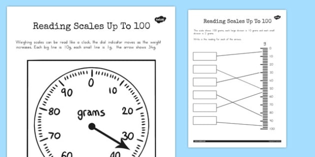 Reading a Scale Up to 100 - australia, reading, scale, 100, read