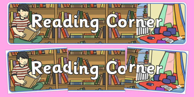 Reading Corner Display Banner - reading corner, display banner, display, banner, reading, read