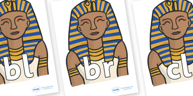 Initial Letter Blends on Pharaoh - Initial Letters, initial letter, letter blend, letter blends, consonant, consonants, digraph, trigraph, literacy, alphabet, letters, foundation stage literacy