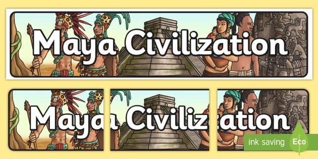 Maya Civilization Display Banner - mayan, maya, history, banner