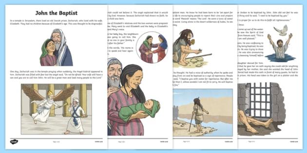 John the Baptist Story Print-Out