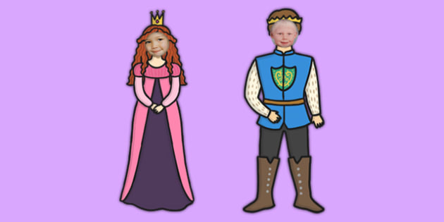 Face Editable Prince and Princess - face, editable, prince and princess, prince, princess