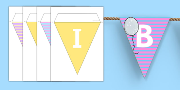 Birthdays Bunting - birthdays, bunting, display, display bunting