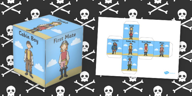 Pirate Role Play Dice - role-play, dice, pirate, role play, game