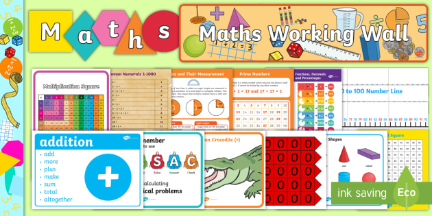 Maths Working Wall Display Pack Maths Working Wall Pack