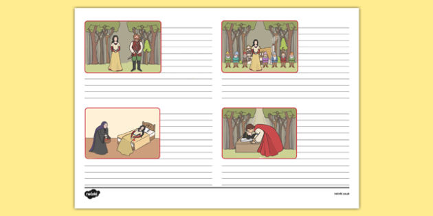 Snow White Storyboard Template - storyboard, snow white, template