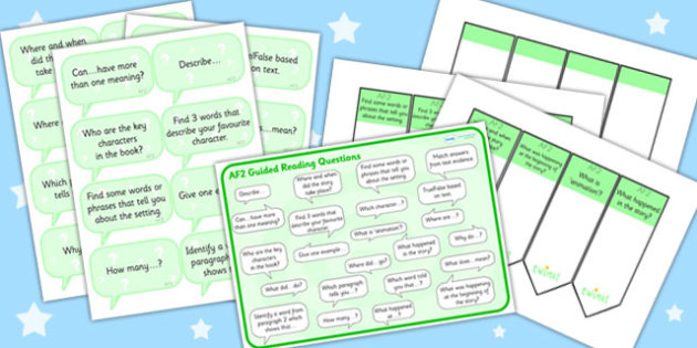 AF2 Guided Reading Resource Pack - AF2, reading, guided reading