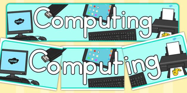 Computing Display Banner - banners, displays, computers, computer