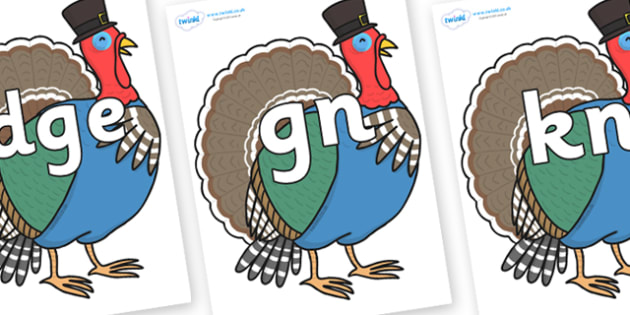 Silent Letters on Turkey Lurky - Silent Letters, silent letter, letter blend, consonant, consonants, digraph, trigraph, A-Z letters, literacy, alphabet, letters, alternative sounds