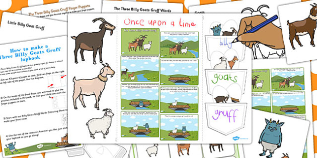 Billy Goats Gruff Lapbook Creation Pack - lapbooks, pack, goat
