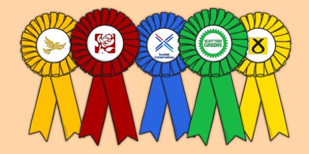 Scottish Elections 2016 Rosette Templates - CfE, Scotland, politics, government, parliament, elections, voting