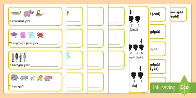 Cardiau Cysyniad Trefnolion: Llenwi'r Bwlch Set 2 - rhif, trefnolion, mathemateg, darllen,Welsh - rhif, trefnolion, mathemateg, darllen, Welsh