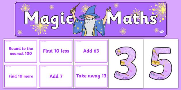 Magic Maths Challenge pack - magic maths, challenge cards, maths, magic, activity