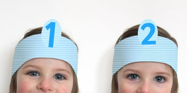 Number Headbands - number, headbands, numbers, bands, role-play