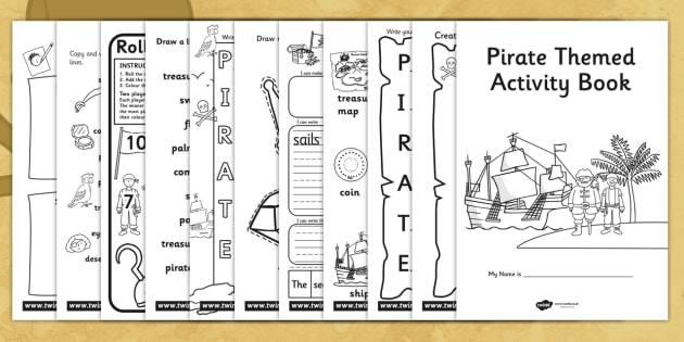 Pirate Themed Activity Book - pirate, activity, book, themed