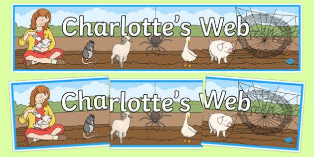 Charlotte's Web Display Banner - story book, display banner, web