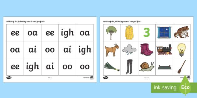 AI EE IGH OA OO Sound Mat - sound mat, sound, mat, sounds, letters and sounds, AI, EE, IGH, OA, OO, phonics, pronunciation, literacy