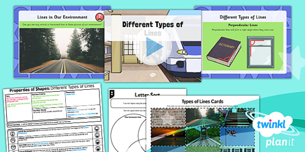 PlanIt Y3 Properties of Shapes Lesson Pack Lines - PlanIt, Properties of Shapes, lines, perpendicular, parallel, vertical, horizontal