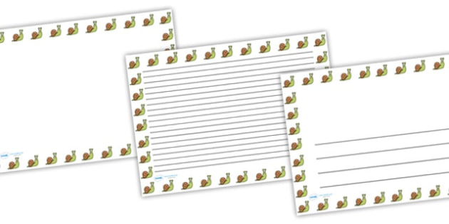 Snail Full Page Borders (Landscape) - page borders, snail page borders, snail borders for page, minibeasts page borders, landscape, A4, border for page
