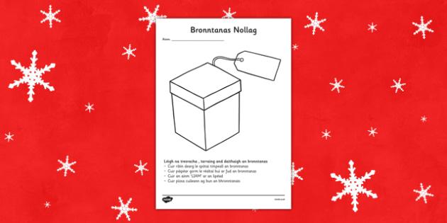 Bronntanas Nollag Read and Draw Activity Sheet Gaeilge - roi, irish, gaeilge, Christmas, Read, draw, comprehension, worksheet