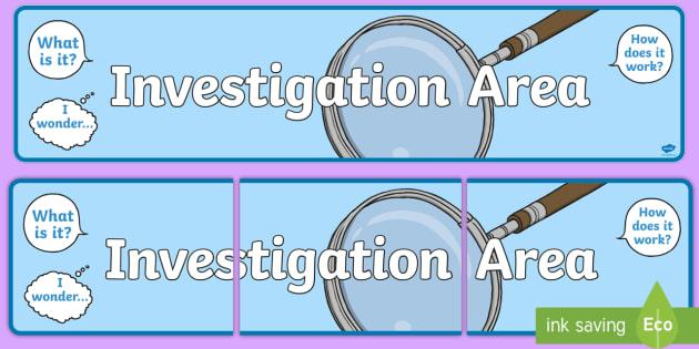Investigation Area Display Banner - investigation area, display banner