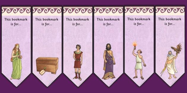 Pandoras Box Ancient Greek Myth Editable Bookmarks - greece