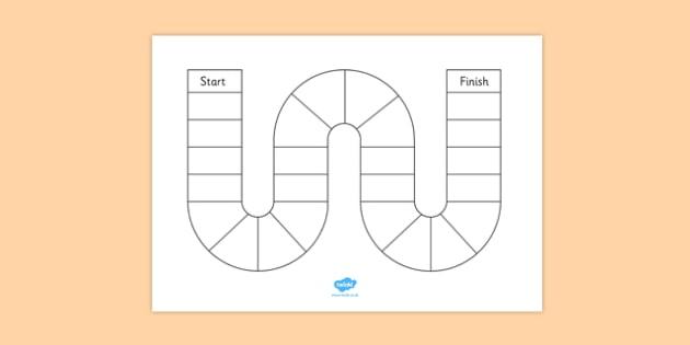 Design Your Own Board Game Worksheets - worksheet, game, activity