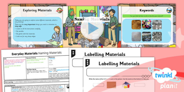 Science: Everyday Materials: Naming Materials Year 1 Lesson Pack 1