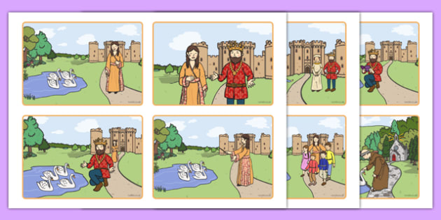 The Children of Lir Story Sequencing Cards - Irish history, Irish story, Irish myth, Irish legends, The Children Of Lir, sequencing cards