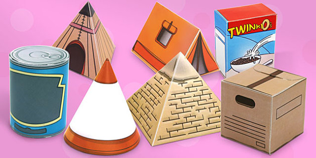 Real Life Object 3D Shapes Pack - 3d, shapes, pack, real life