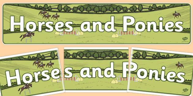 Horses and Ponies Display Banner - horses, ponies, display banner